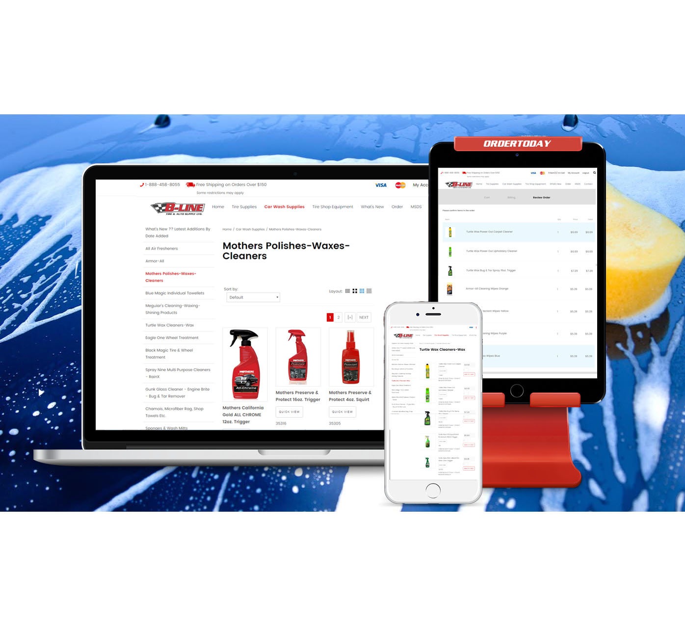 Online Ordering available for Carwash Supplies